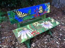 Painted Park Bench